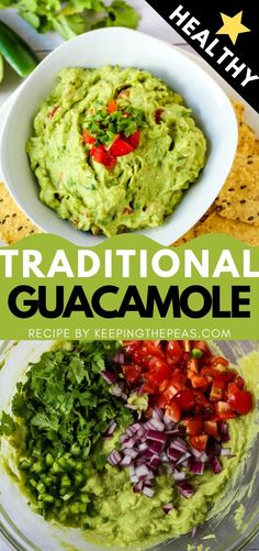 Everyone needs the best ever guacamole recipe to celebrate Cinco de Mayo! This one will not disappoint! Made with authentic ingredients that bring out the subtle flavor and natural creaminess of the avocados. Not too spicy yet full of flavor! Spicy Recipes, Easy Healthy Recipes, Appetizer Recipes, Easy Meals, Cooking Recipes, Appetizers, Dip Recipes, Chipotle Guacamole Recipe, Authentic Guacamole Recipe