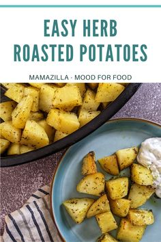 You are going to love these herb roasted potatoes! So mediterranean, they are very light, aromatic and easy to prepare. Did I tell you they are also vegan? No butter here, just olive oil. Their sweetness comes from an orange and some maple syrup. So yummy! Big Tray, Herb Roasted Potatoes, Mediterranean Dishes, Maple Syrup, Vegan Vegetarian, Olive Oil, Sweet Potato, Vegan Recipes, Appetizers
