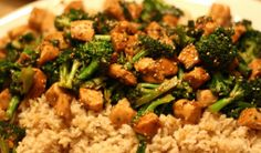 Chinese Foods Chicken and Broccoli Spicy Hot