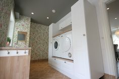 You searched for label/Vaskerom - Villa Von Krogh Laundry Room Inspiration, Interior Inspiration, Small Laundry Rooms, Modern Kitchen Design, Stacked Washer Dryer, Washing Machine, Sweet Home, Home Appliances, House