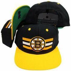 291cb66ff8753 Boston Bruins Retro Billboard Snapback Cap Hat Black Yellow .  8.99. Brand  new retro snapback