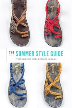 Choose your favorite #summer Plaka sandals! #handmade #sandals #fashion