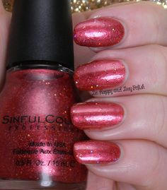 Sinful Colors Hot Chili | Be Happy And Buy Polish http://behappyandbuypolish.com/2014/11/10/sinful-colors-glitter-nail-polishes/