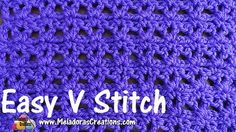 """This Free Crochet pattern teaches how to make this very easy beginner crochet stitch using V stitches and chains. This pattern comes with helpful pictures and video tutorials for both right and left handed to take you step by step."""