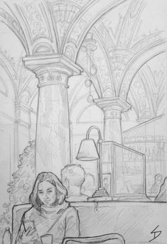 Budapest – a winter's dream – Quick Sketch. Human Figure Sketches, Figure Sketching, Illustrations, Illustration Art, Art Sketches, Art Drawings, Architecture Drawing Sketchbooks, Winter Drawings, Realistic Pencil Drawings