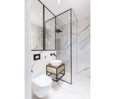 Mieszkanie na Woli - zobacz ciekawy miks stylów - Galeria - Dobrzemieszkaj.pl Toilet, Bathroom, Washroom, Flush Toilet, Full Bath, Toilets, Bath, Bathrooms, Toilet Room