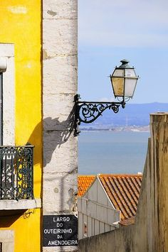 Lisbon, Portugal ~ love the composition of this with the colors, lines and created depth. Visit Portugal, Spain And Portugal, Portugal Travel, Places In Europe, Places To Visit, Most Beautiful Cities, Beautiful Buildings, Portuguese Culture, Light Of The World