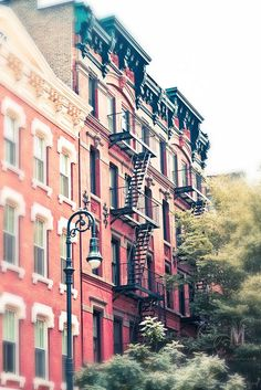 Pre-war apartment buildings in Greenwich Village, New York City. One of these would be lovely. Greenwich Village, Little Italy, New York City, Magic Places, Ville New York, A New York Minute, Empire State Of Mind, I Love Nyc, Photo Vintage
