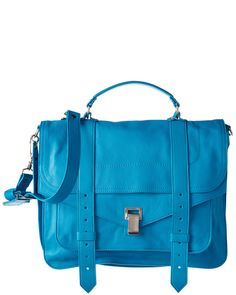 You need to see this Proenza Schouler PS1 Large Leather Satchel on Rue La La.  Get in and shop (quickly!): http://www.ruelala.com/boutique/product/100280/29405876?inv=kmcclellan434&aid=6191