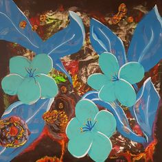 Uit de diepte, schilderij van Mimpi-ARt, Arjen Vonk | Abstract | Modern | Kunst