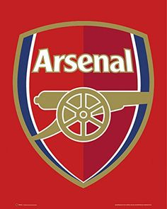 Arsenal F.C. (football club) Crest Soccer Sports Poster Print 16 by 20
