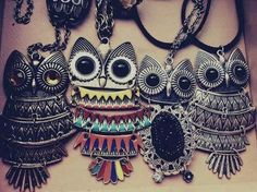owl necklaces((: