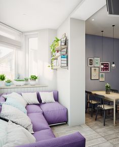 Интерьер однокомнатной квартиры  в скандинавском стиле, дизайн проект, г. Королев