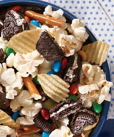 OREO® Field Goal Snack Mix recipe - Make Ahead: This tasty oh-so-simple snack mix can be prepared ahead of time. Store in airtight container at room temperature up to 24 hours before serving.