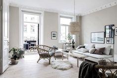 textiles naturales piso luminoso decoración sueca decoración madera natural decoración colores claros blog decoración nórdica apartamento sueco