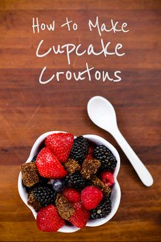 How to Make Cupcake Croutons ~ Cupcake Project...great use for those cupcakes a little past their prime!