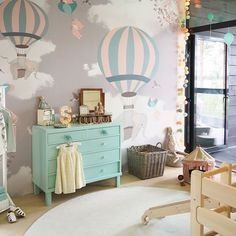 Little Hands Wallpaper Mural - The wallpaper can be ordered in various sizes. We are like tailors, the wallpaper will fit perfectly on your wall, you just have to give us the measures you need! Baby Bedroom, Baby Boy Rooms, Little Girl Rooms, Baby Room Decor, Nursery Room, Girls Bedroom, Mint Nursery, Bedrooms, Little Hands Wallpaper