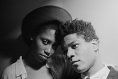 """mysleepykisser-with-feelings-hid: """"  Jean-Michel Basquiat and Charlotte at Area Nightclub (1985). © Stephan Lupino """""""