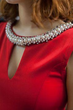 Red Amelie Dress details