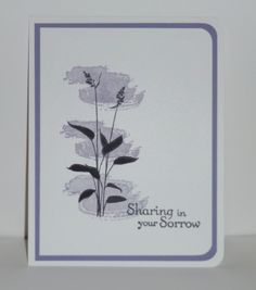 Simple sympathy card featuring Stampin' Up!'s new World of Dreams stamp set.  For information about stamping with me, check www.lindamadison.stampinup.net.