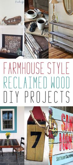 Farmhouse Style Reclaimed Wood DIY Projects - The Cottage Market