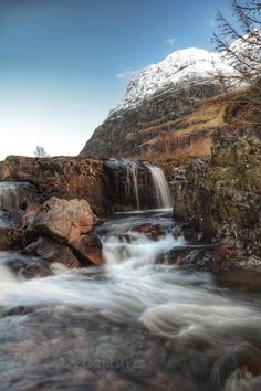River Coe over the rocks, Glencoe, Scotland