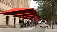 Designer umbrellas for the MET by Spatial Affairs Bureau, is manufactured by Uhlmann Giant Umbrellas Commercial Umbrellas, 5th Avenue, Metropolitan Museum, Natural Light, Canopy, Designer Umbrellas, Outdoor Decor, Modern, Art