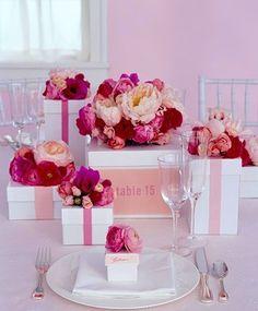 mariage décoration de table la vie en rose