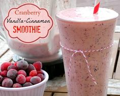 Cranberry Vanilla Cinnamon Smoothie by noblepig: Thanks to @Christina & Silbermann ! #Smoothie #Cranberry #Vanilla #Cinnamon