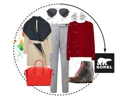 """""""Introducing the 2015 Winter Collection from SOREL: Contest Entry"""" by take-me-to-moscow ❤ liked on Polyvore featuring SOREL, MANGO, Givenchy, The Row, Autumn Cashmere and Georgini"""