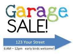 garage sale signs free printable and downloadable printables