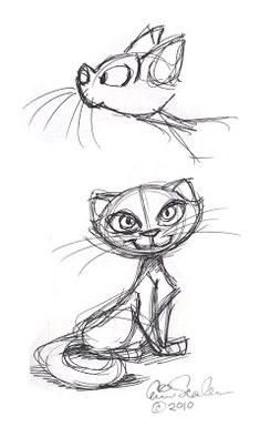 Cartoon Drawing The Ol' Sketchbook: Will I ever get tired of drawing cats? Pencil Art Drawings, Cat Drawing, Cartoon Drawings, Animal Drawings, Cartoon Art, Drawing Sketches, Character Drawing, Drawing Reference, Cat Art