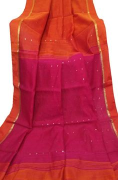 Orange Handloom Jamdani Cotton Silk Saree #jamdani#saree#affordable#saree#cottonsilksaree#graceful#loveforsaree#