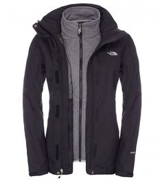 The North Face Women Zephyr Triclimate jacket TNF Black/Dapple Grey