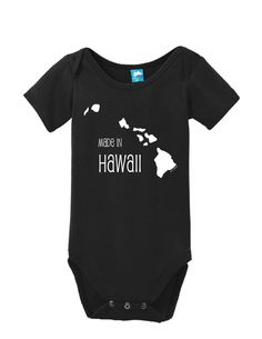 Made In Hawaii Onesie Funny Bodysuit Baby Romper