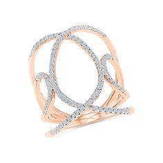 Belle Splendor || Round Cut Diamond Cocktail Ring in 18K Rose Gold