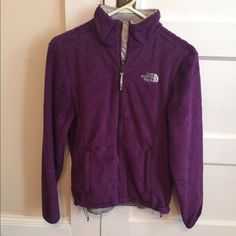 Purple North Face jacket EUC no signs of wear only selling because I don't wear it anymore North Face Jackets & Coats