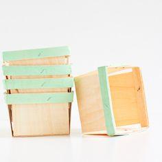 Small storage/centerpiece ideas? Wooden Berry Baskets: Mint – Shop Sweet Lulu