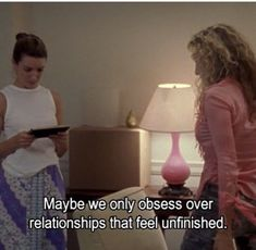 Maybe we only obsess over relationships that feel unfinished, words, quotes, Sex and the City City Quotes, Mood Quotes, Sucess Quotes, Quotes Quotes, Pretty Words, Beautiful Words, Movie Lines, Tv Show Quotes, Romance