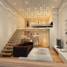 Amazing Interior Design Ideas for Small House. If your living room design is small and may make the dream house design for your home and living room not yet realized, do not worry! The small house . Loft Design, Tiny House Design, Design Case, Apartment Interior, Apartment Design, Apartment Bedrooms, Apartment Living, Loft Bedrooms, Interior Stairs