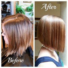 corta una recta peinado bob línea de comandos para las mujeres