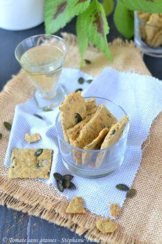 Biscuits apéritifs aux graines {végétaliens et sans gluten} : http://tomatesansgraines.blogspot.fr/2018/03/biscuits-aperitifs-aux-graines.html