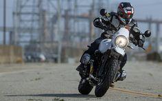 Download wallpapers 4k, BMW R nineT Urban GS, rider, 2017 bikes, new Urban GS, german motorcycles, BMW