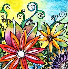 The Garden Painting  - The Garden Fine Art Print