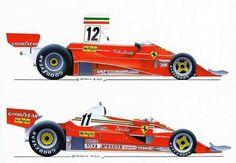 F e r r a r i 312T 1 & 2 1975 & 76:
