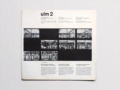 ulm 2 Quarterly bulletin of the Hochschule für Gestaltung, Ulm, October, 1958