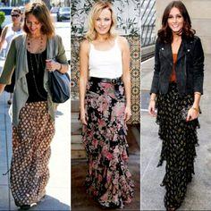 Glam radar ! How to wear maxi skirt