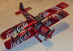 Coca Cola Can Airplane - Handmade
