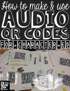 """Have students make audio QR codes that say a positive message & hang them all around the school (or your classroom).  Students, teachers, and parents will love scanning to reveal a """"secret message"""" like """"You are awesome"""" """"Choose Kind"""" """"Be yourself.""""  So FUN!"""