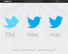 New Twitter Logo, with hair by ~MrNamelessIT on deviantART